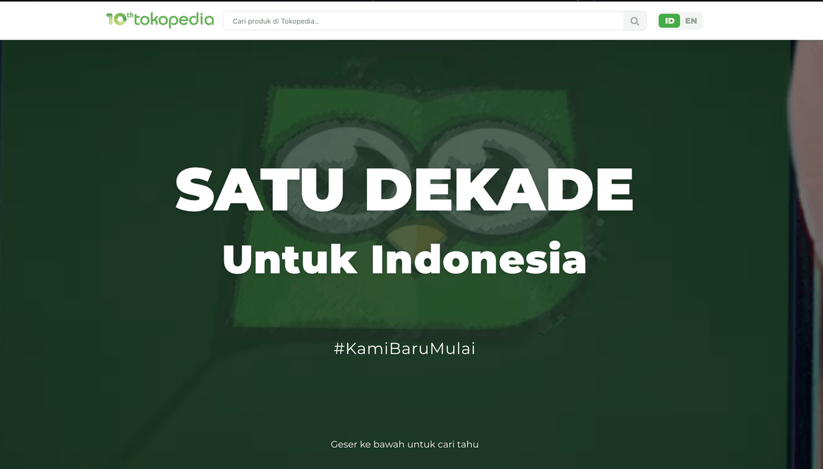 Cover Lesson Learned from Building Tokopedia Anniversary Microsite